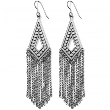 Pebble Pebble Disc Fringe French Wire Earrings