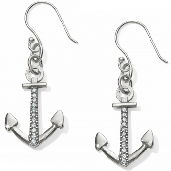 Coastline Reversible Anchor French Wire Earrings