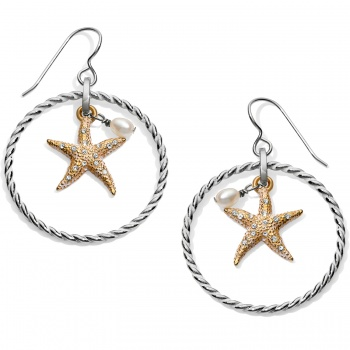 Under the Sea Under The Sea Floating Starfish French Wire Earrings