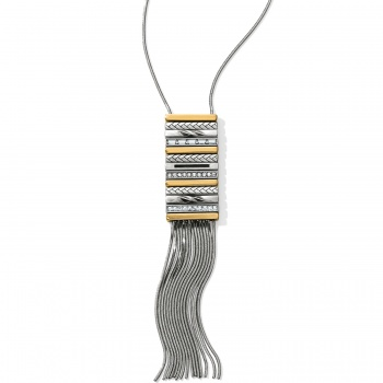 Tapestry Fringe Long Necklace