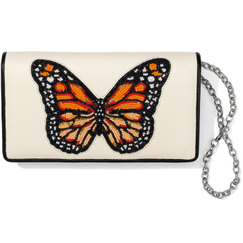 Monarch Dream Beaded Clutch Wallet