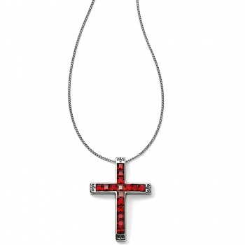 Spectrum Cross Long Necklace