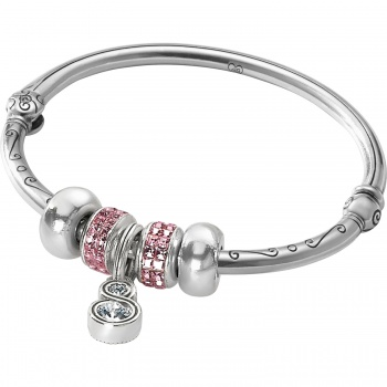 Infinity Sparkle Shine Charm Bangle