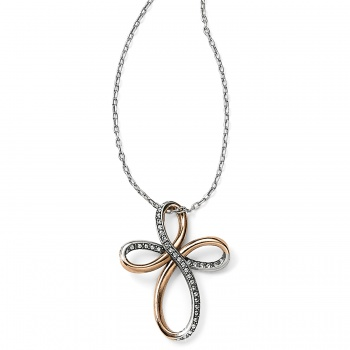 Neptune's Rings Reversible Cross Necklace