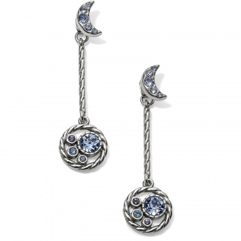 Halo Moon Convertible Post Drop Earrings