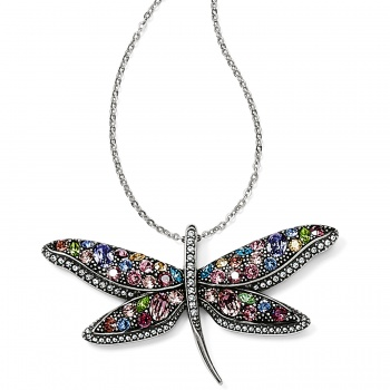 Trust Your Journey Dragonfly Reversible Necklace