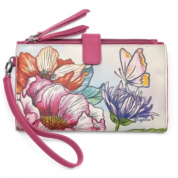 Enchanted Garden Double Zip Wallet