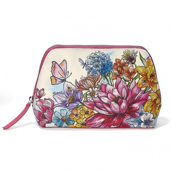 Enchanted Garden Large Cosmetic Pouch