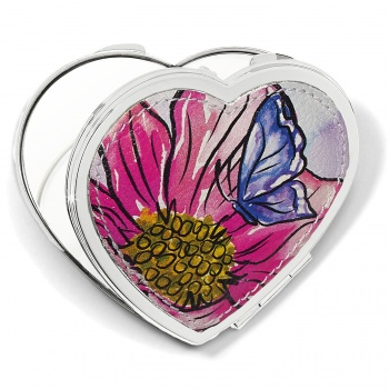 Enchanted Garden Heart Compact Mirror