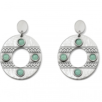 Marrakesh Oval Post Drop Earrings