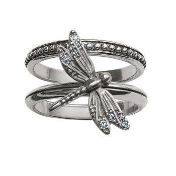Solstice Dragonfly Stacking Rings