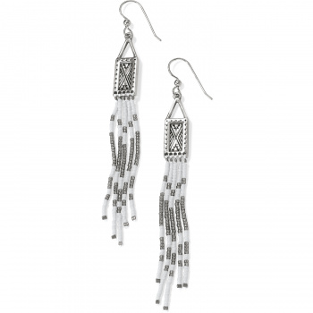 Africa Stories Beaded Fringe French Wire Earrings