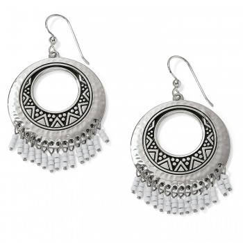 Africa Stories Round Fringe French Wire Earrings