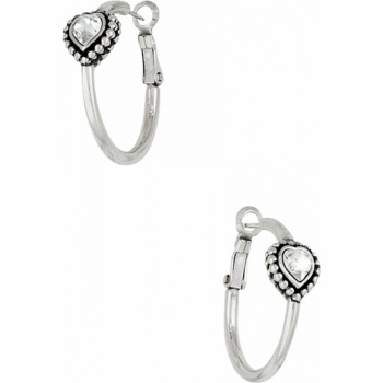 Shimmer Heart Small Hoop Earrings