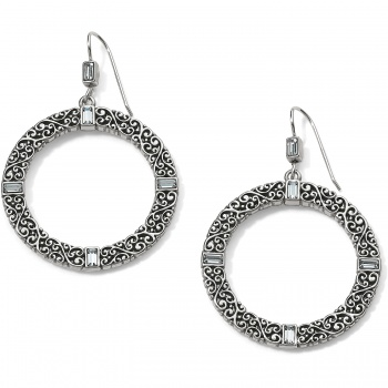 Baroness Round French Wire Earrings