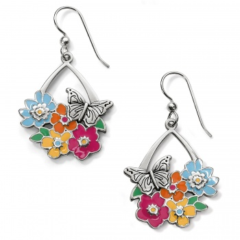 Enchanted Garden Flower French Wire Earrings