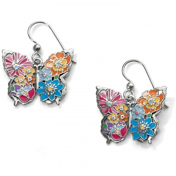 Enchanted Garden Butterfly French Wire Earrings