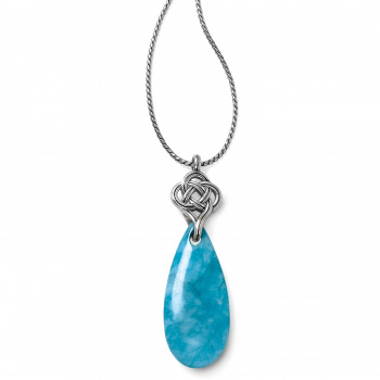 Interlok Turquoise Quartz Long Necklace