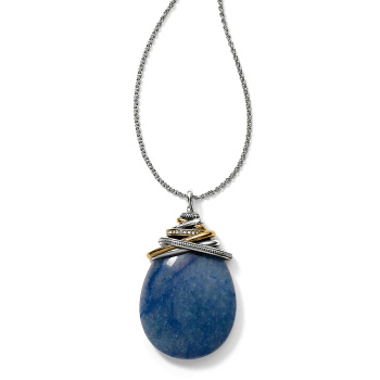 Neptune's Rings Blue Cabochon Convertible Necklace