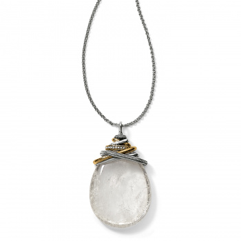 Neptune's Rings Crystal Cabochon Convertible Necklace