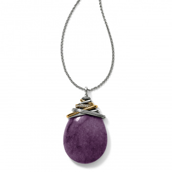 Neptune's Rings Amethyst Cabochon Convertible Necklace