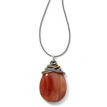Neptune's Rings Carnelian Cabochon Convertible Necklace