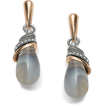 Neptune's Rings Banded Agate Teardrop Earrings