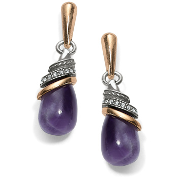 Neptune's Rings Amethyst Teardrop Earrings