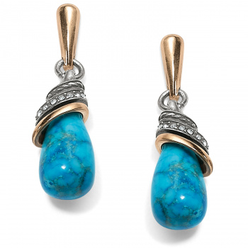 Neptune's Rings Turquoise Teardrop Earrings