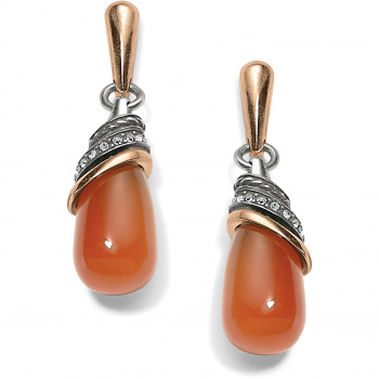 Neptune's Rings Carnelian Teardrop Earrings