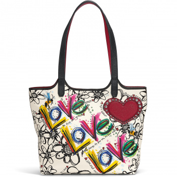 Scribble Garden Large Tote