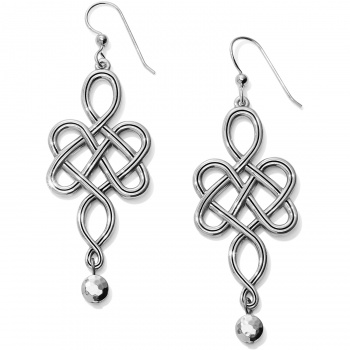 Interlok Endless Knot French Wire Earrings