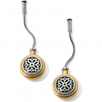 Ferrara Ferrara Two Tone Post Drop Earrings