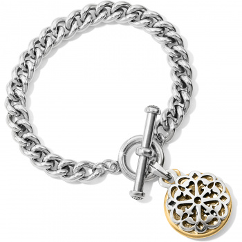 Ferrara Two Tone Toggle Bracelet