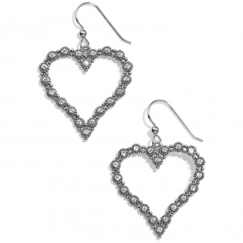 Twinkle Twinkle Splendor Heart French Wire Earrings