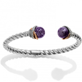 Neptune's Rings Amethyst Open Hinged Bangle