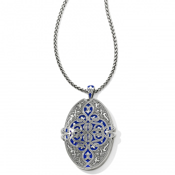 Royal Brocade Large Oval Convertible Locket Necklace
