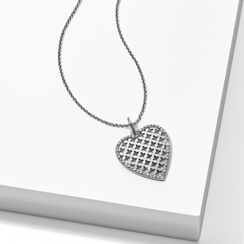 Trellis Heart Short Necklace