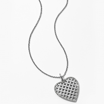 Trellis Heart Medium Necklace