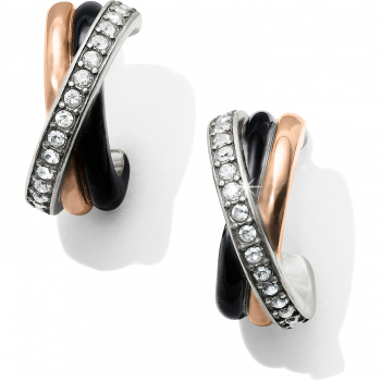 Neptune's Rings Black Leverback Earrings