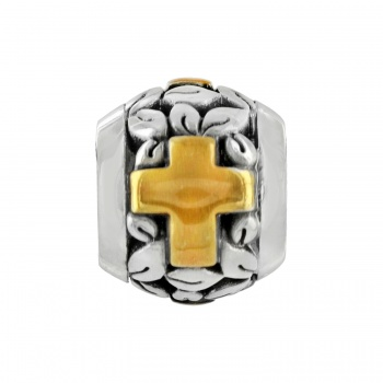 Poetic Cross Bead