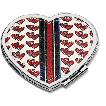 Love Doodle Heart Compact Mirror