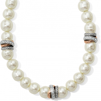 Neptune's Rings Cream Pearl Short Necklace