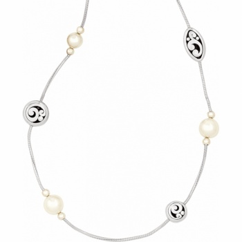 Contempo Pearl Long Necklace
