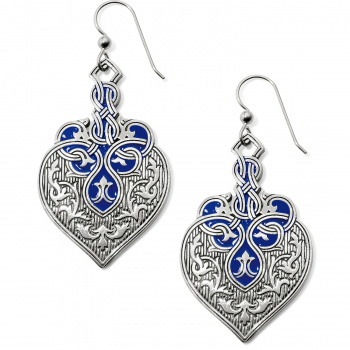 Royal Brocade Heart French Wire Earrings