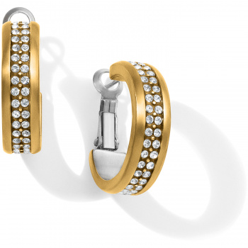 Meridian Meridian Two Tone Hoop Earrings