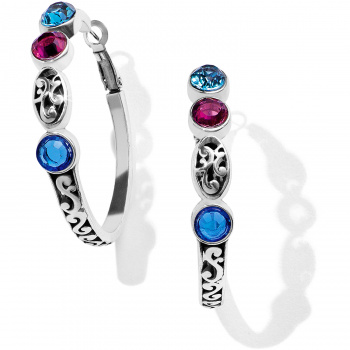 Elora Elora Gems Vitrail Hoop Earrings