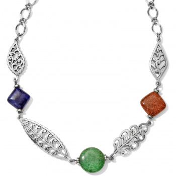 Barbados Leaves Stone Short Necklace