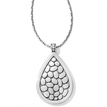 Pebble Teardrop Convertible Reversible Necklace