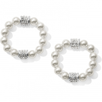 Meridian Petite Pearl Hoop Drop Earrings